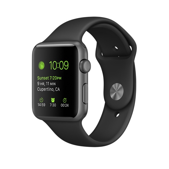Apple Watch 1 42mm space gray Alu Case Sport Band