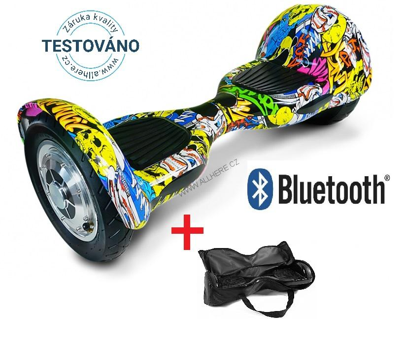 Hoverboard Offroad GRAFFITI s bluetooth reproduktorem