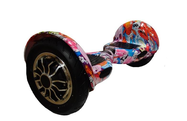 Hoverboard Offroad Purple-grafitty s bluetooth reproduktorem
