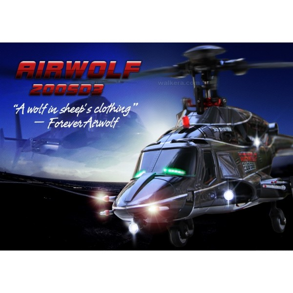 Walkera RC vrtulník Airwolf 200SD3 RTF
