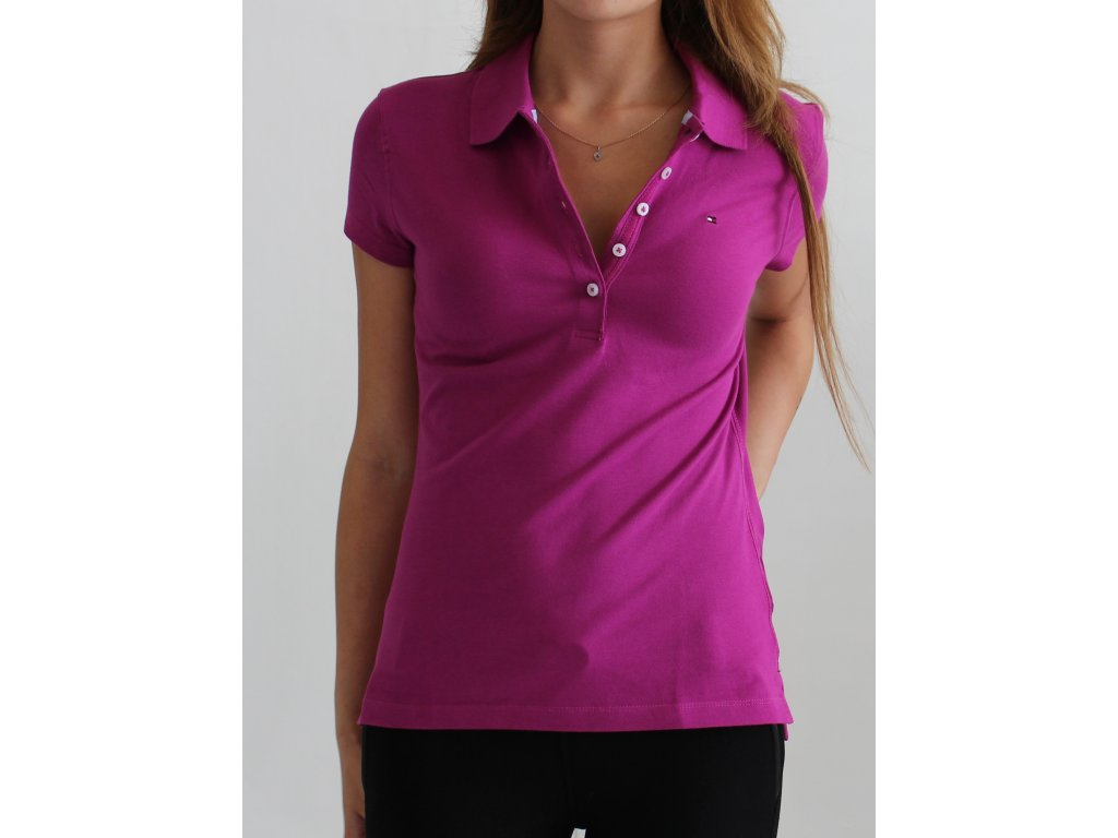 TOMMY HILFIGE polo MAGENTA