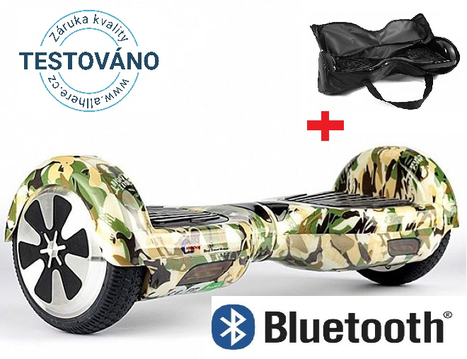 Hoverboard standard army s bluetooth reproduktorem