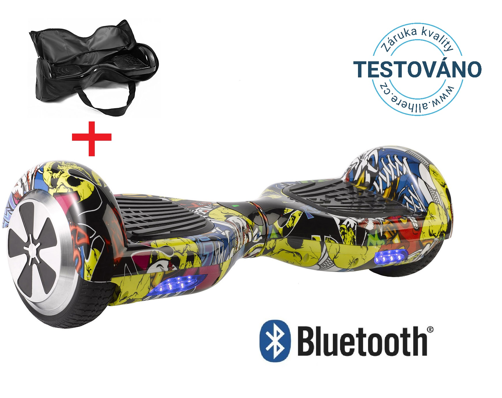 Hoverboard standard grafitty s bluetooth reproduktorem