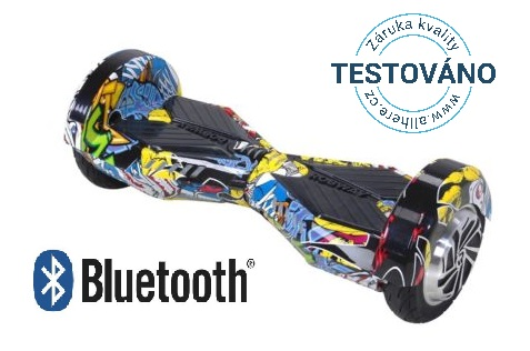 Hoverboard Premium grafitty s bluetooth reproduktorem